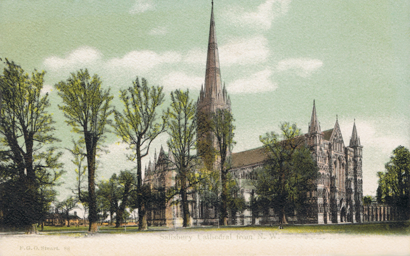 88  -  Salisbury Cathedral From S.W.