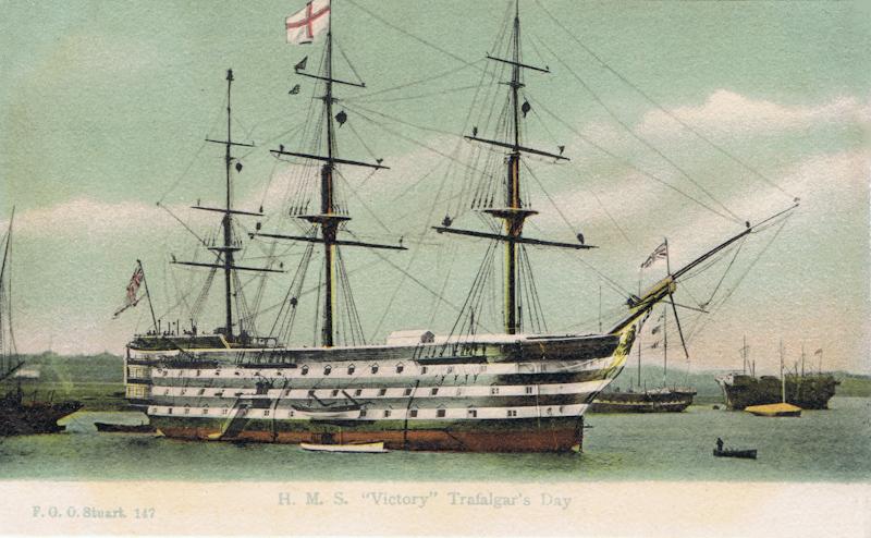 "H.M.S ""Victory"", Trafalgar Day"