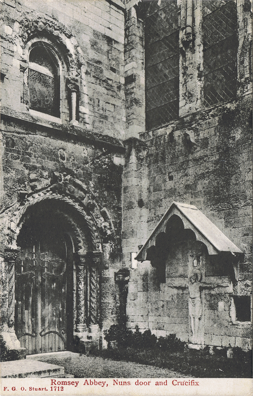 Romsey Abbey, Nuns door and Crucifix