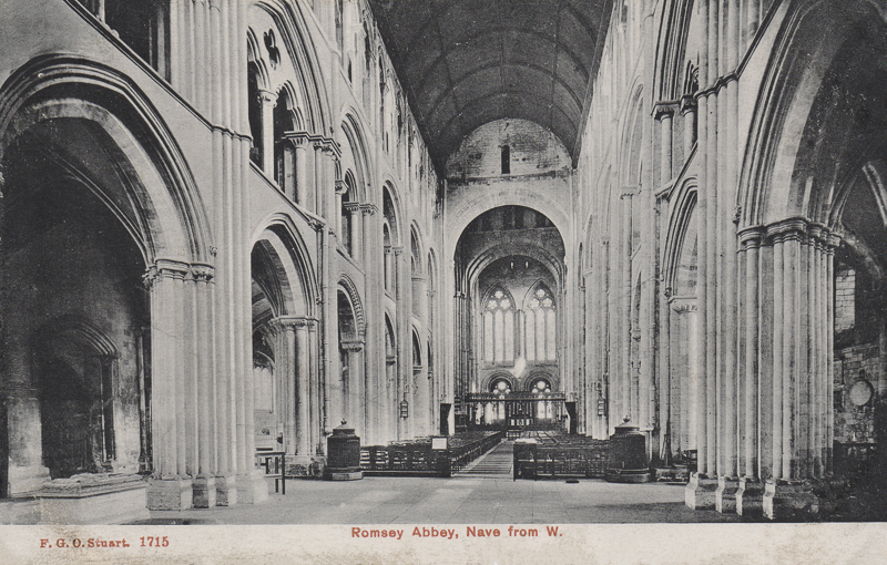 Romsey Abbey, Nave From W.