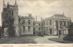 1827  -  Bishop's Palace, Salisbury