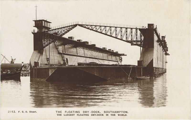 The Floating Dry-Dock, Southampton. The Largest Floating Dry-Dock In The World.