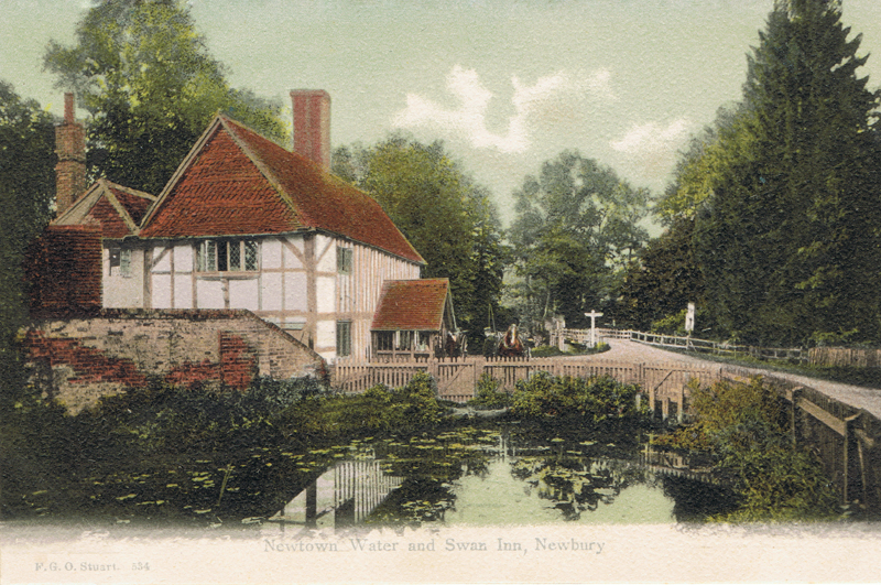 Newtown Water and Swan Inn Newbury
