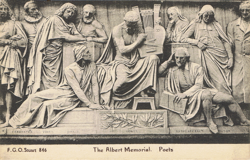 The Albert Memorial, Poets