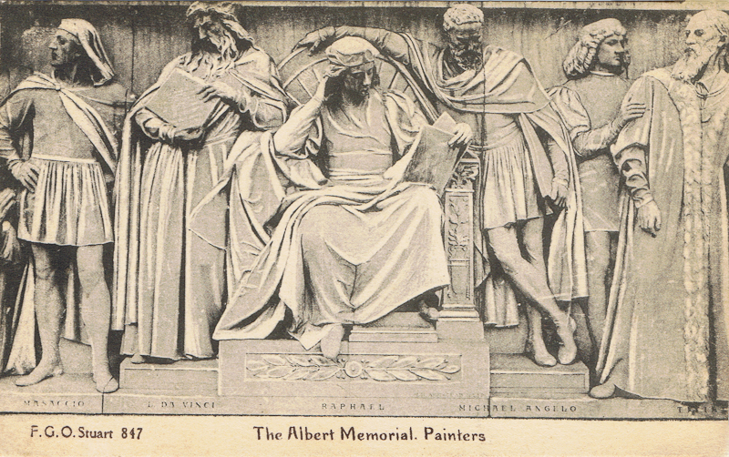 The Albert Memorial, Painters