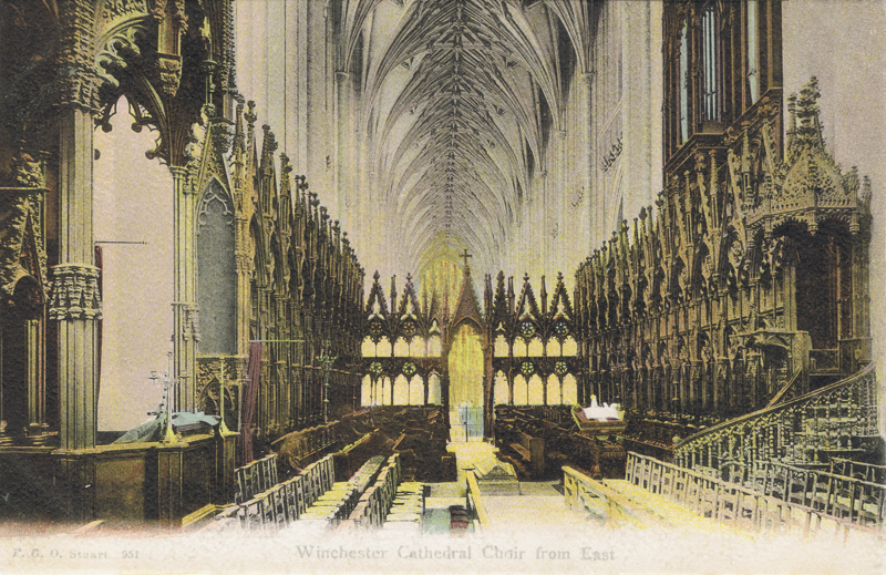 Winchester Cathedral, Choir From East