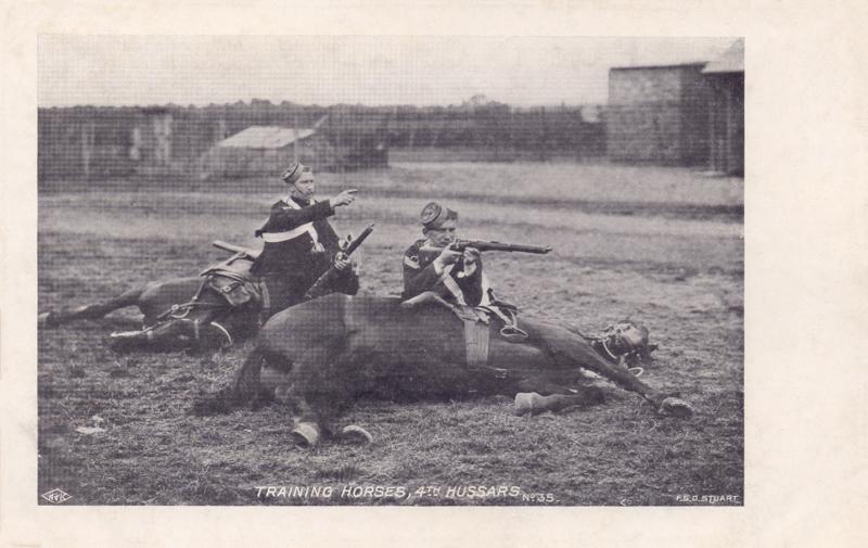 Training Horses, 4th Hussars