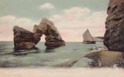 1245  -  The Rocks, Freshwater Bay, I. W.