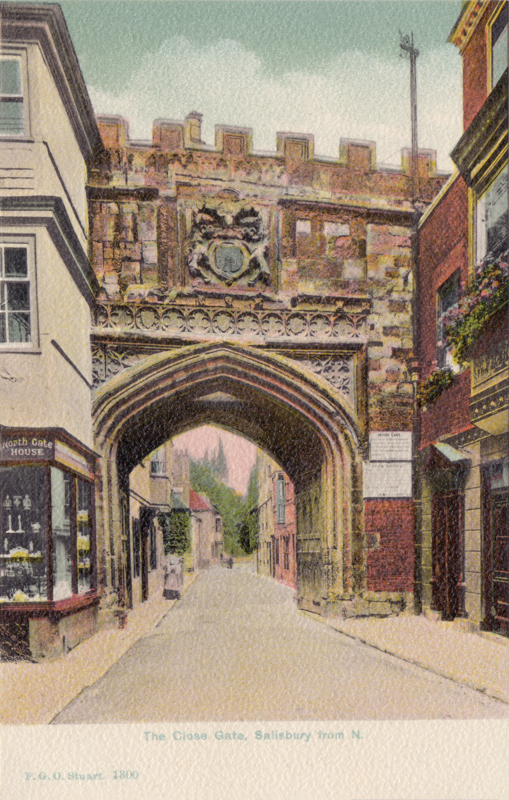 The Close Gate, Salisbury from N.