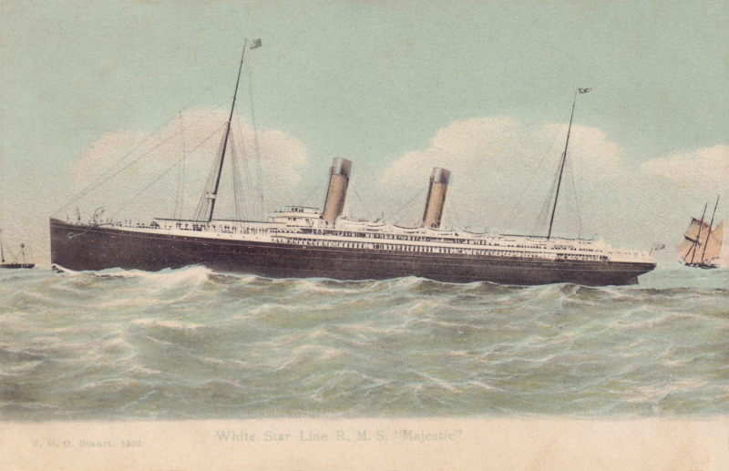 "White Star Line R.M.S. ""Majestic"""