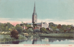 18009  -  Salisbury Cathedral (from river)