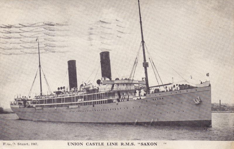 """Union Castle Line R.M.S. """"Saxon"""""""
