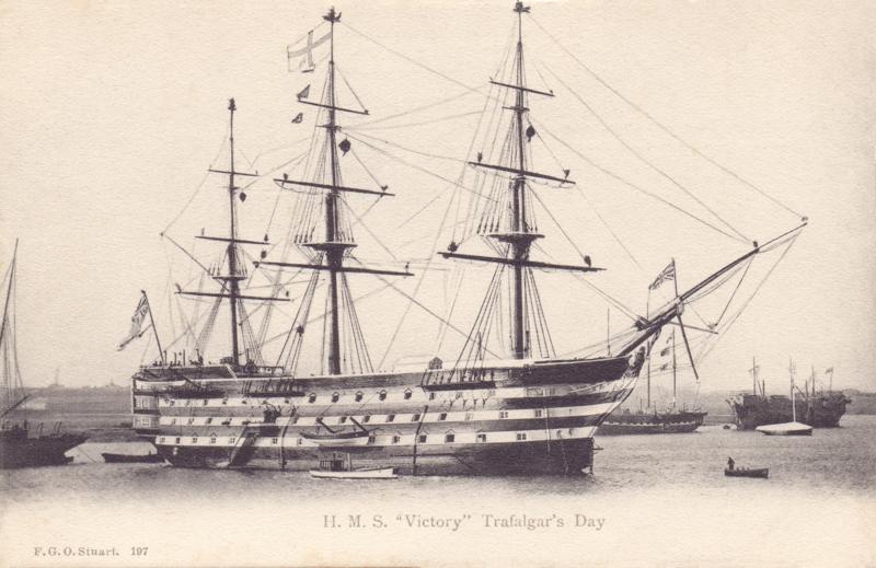 "H.M.S. ""Victory"", Trafalgar's Day"