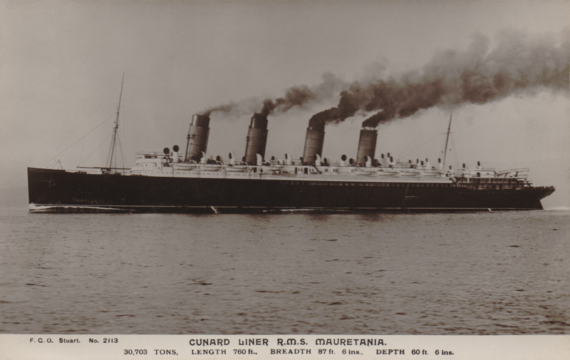 Cunard Liner R.M.S. Mauretania.