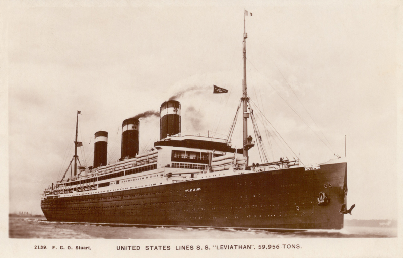"""United States Lines S.S.""""Leviathan"""", 59,956 tons"""