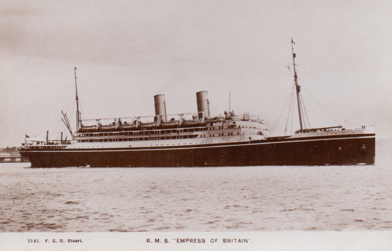 """R.M.S. """"Empress of Britain"""""""