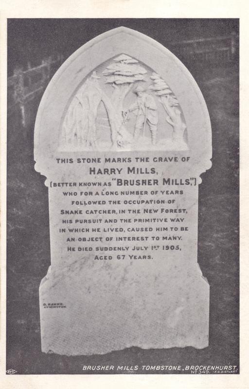 Brusher Mills Tombstone, Brockenhurst