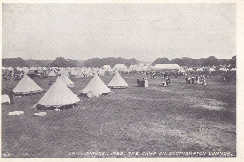 Army Manoeuvres, the camp on Southampton Common