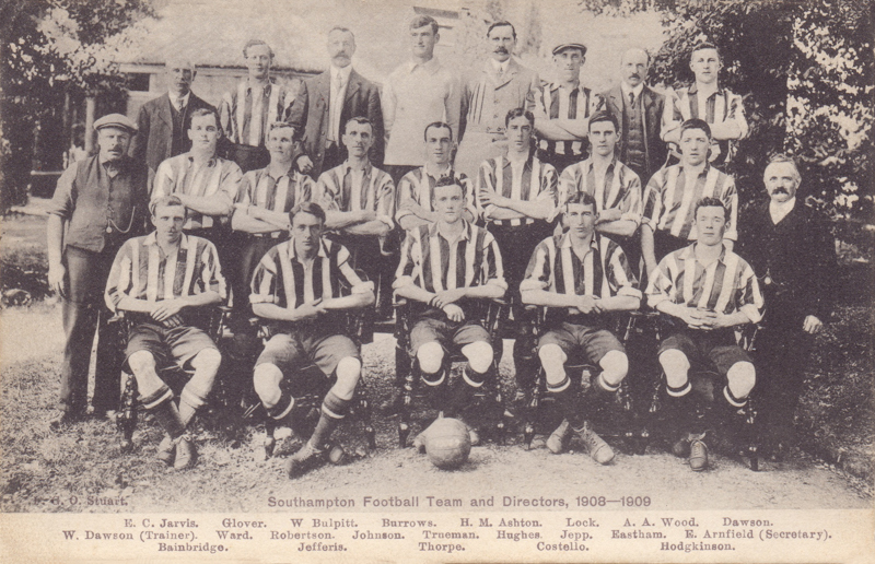 Southampton Football Team and Directors 1908-1909
