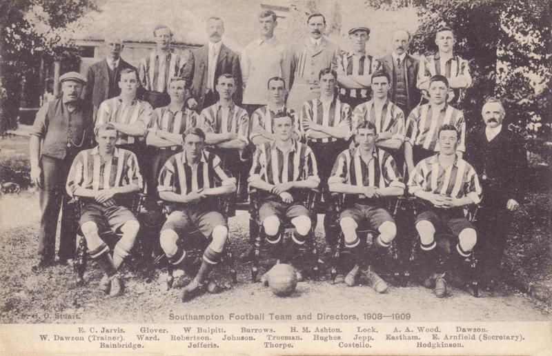 Southampton Football Team and Directors 1908-1909